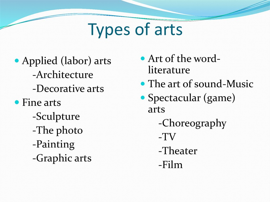 Types of arts