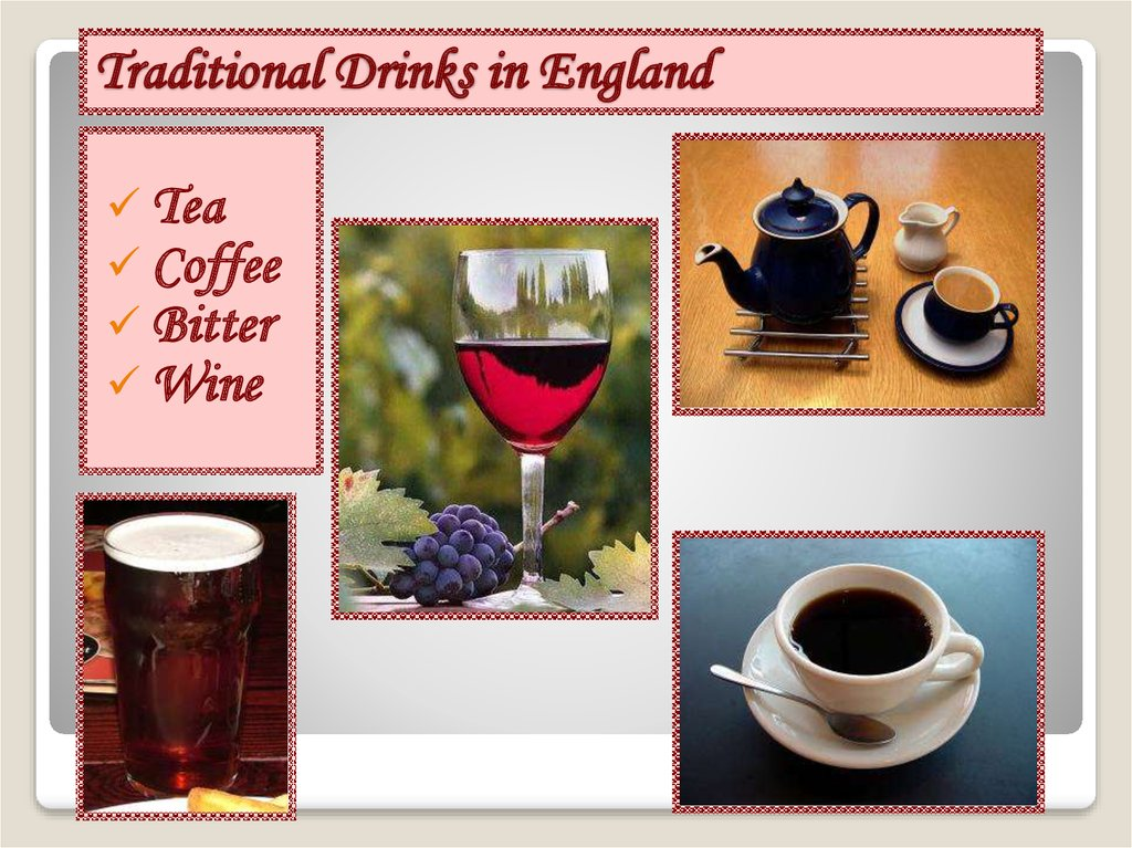 Traditional Drinks in England