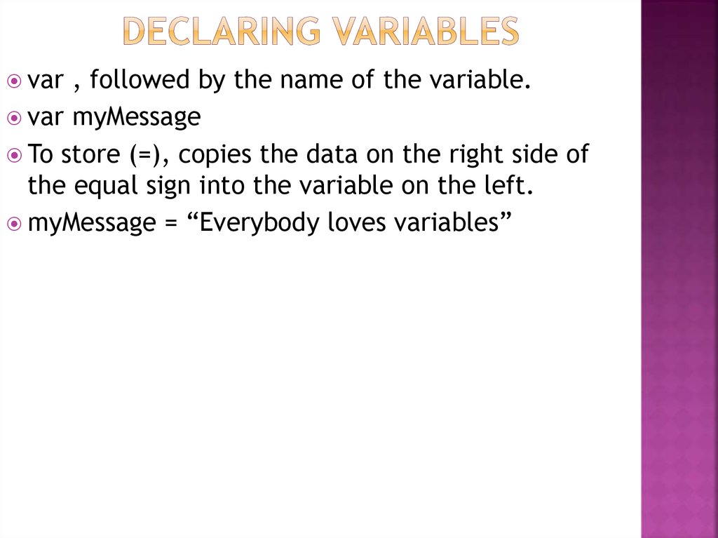 Declaring Variables