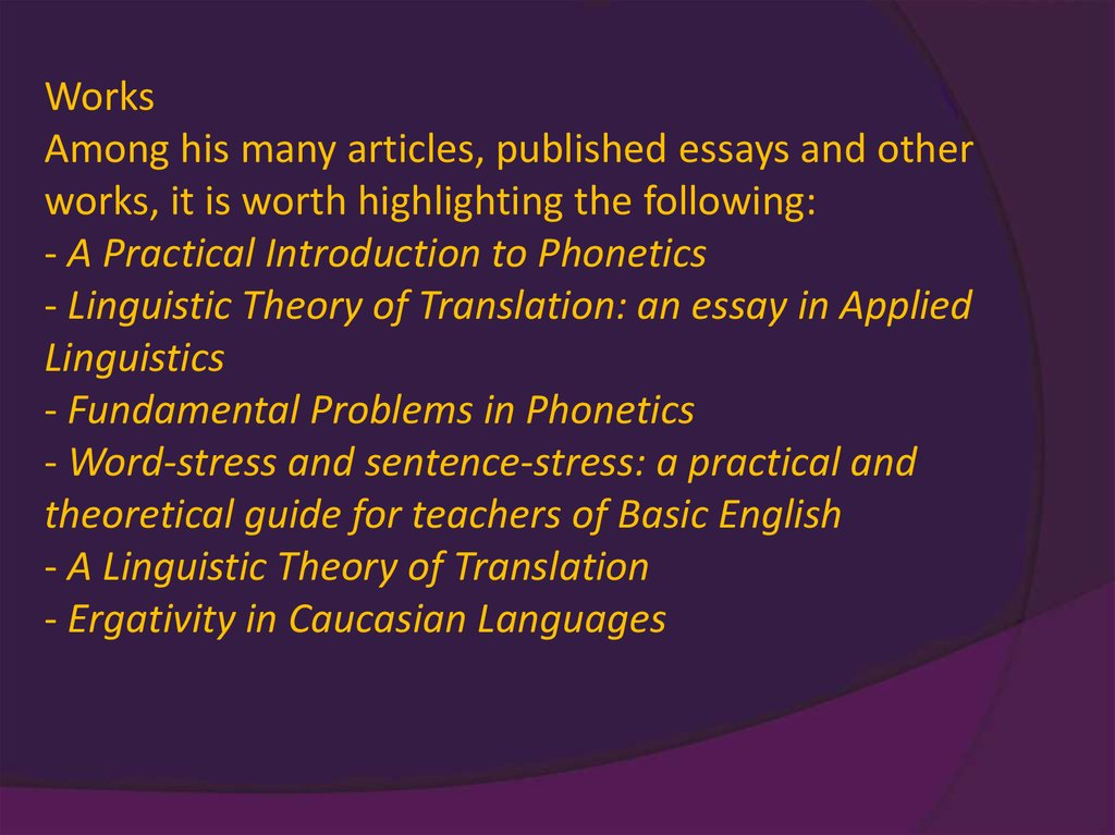 a linguistic theory of translation an essay on applied linguistics A linguistic theory of translation, an essay in applied linguistics by john c catford, 1969, oxford university press edition, in english.