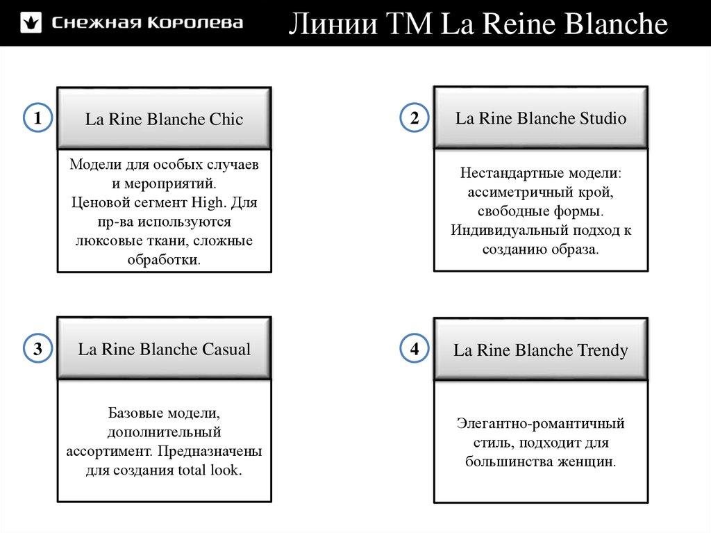 b4e22d99be3 ... Бренд S.Oliver СТМ La Reine Blanche Линии ТМ La Reine Blanche ...