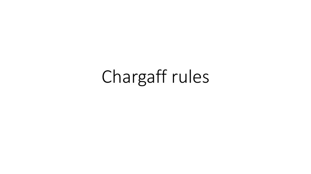 chargaff rules