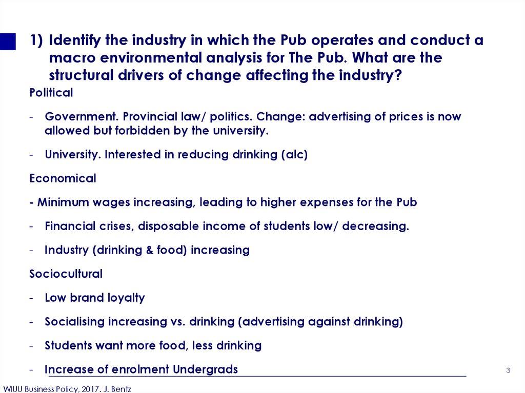 macro environment food industry