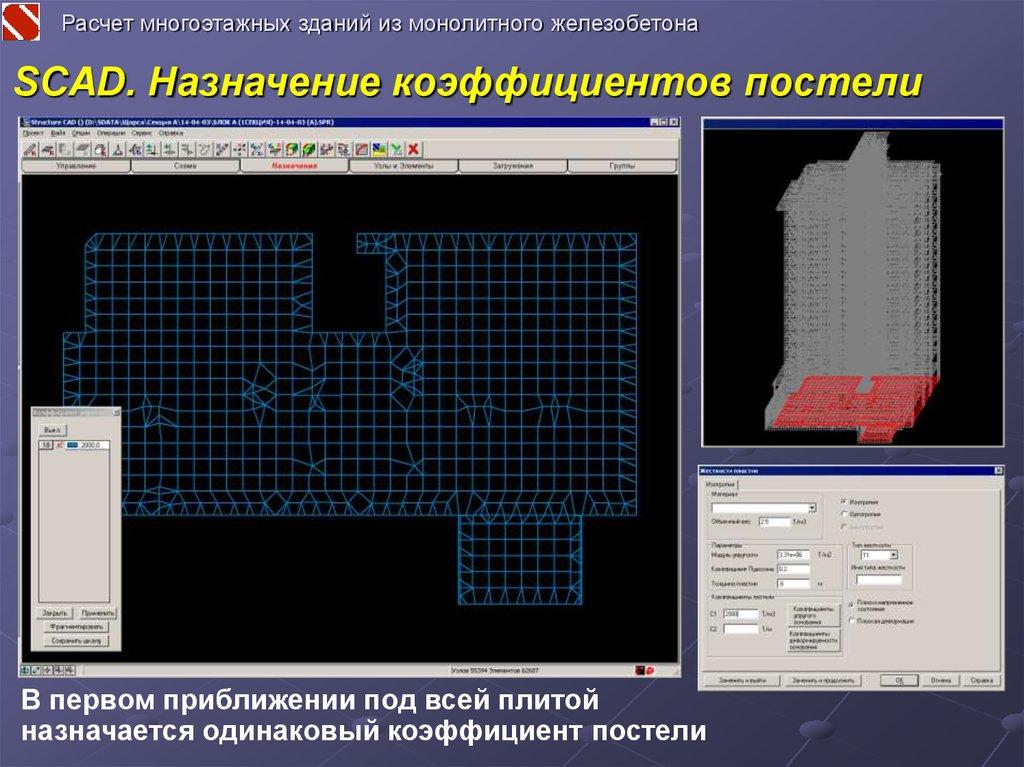 Scad расчет железобетонных конструкций тренажерные залы на жби
