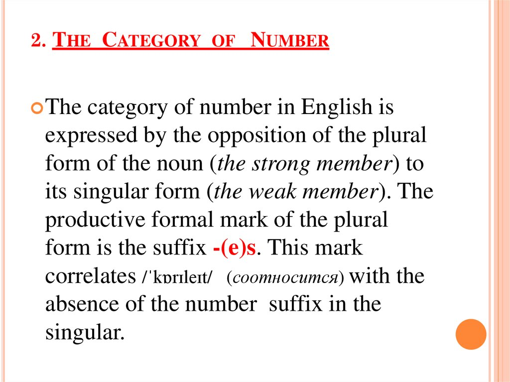 2. The Category of Number