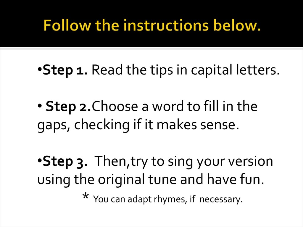 Follow the instructions below.