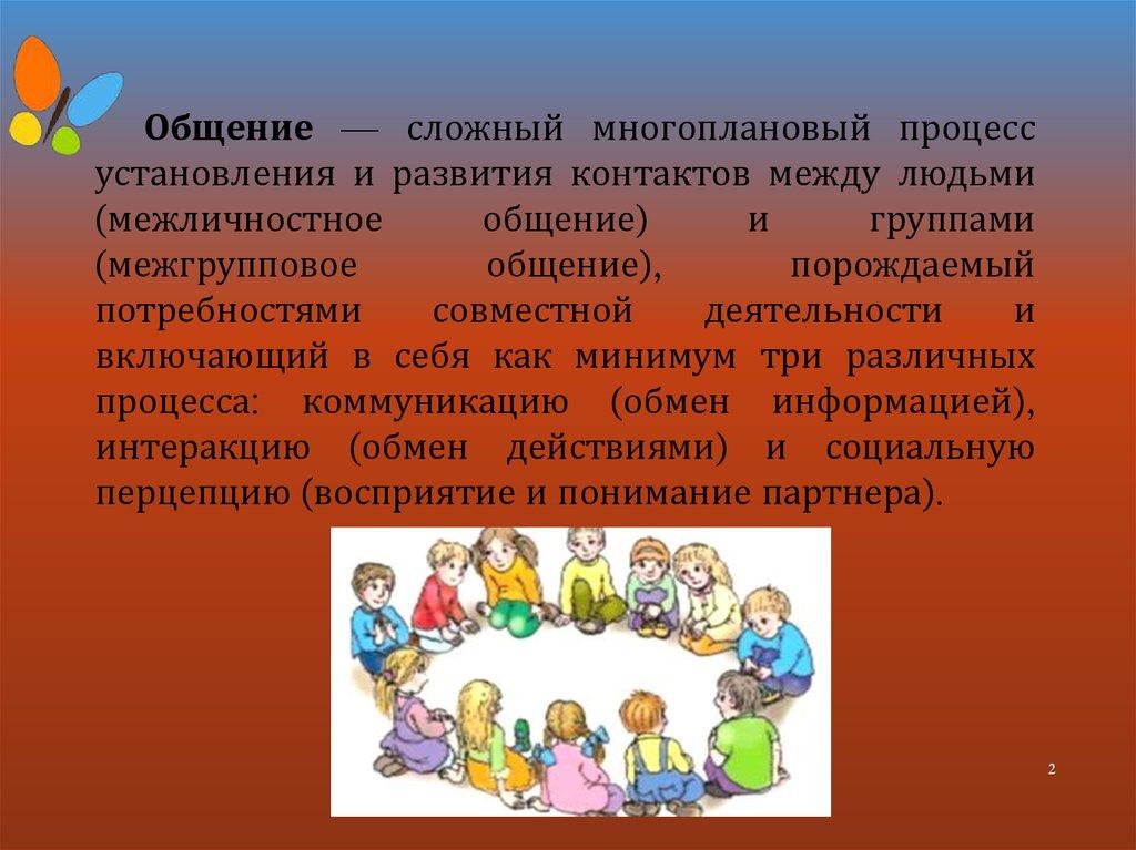 Общение детей с нарушениями в развитии