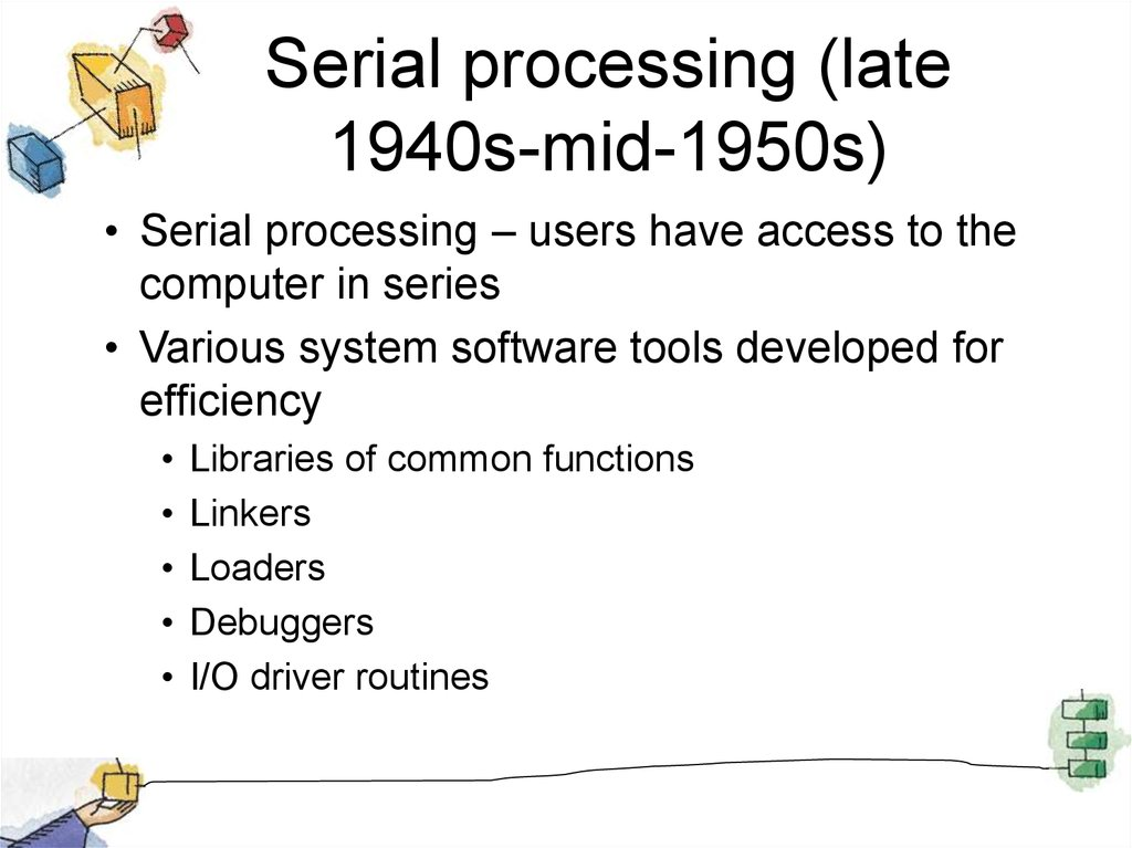 Serial processing (late 1940s-mid-1950s)