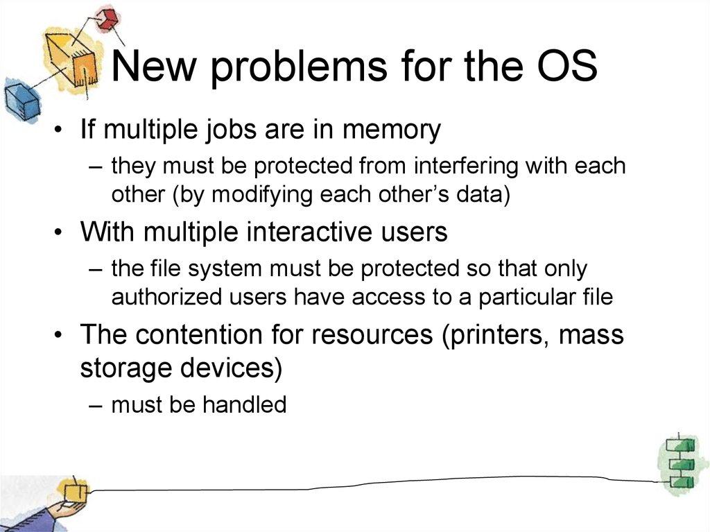 New problems for the OS