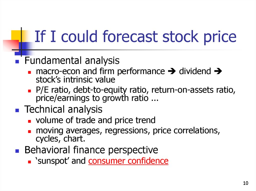 Stock market basics and stock pricing - online presentation