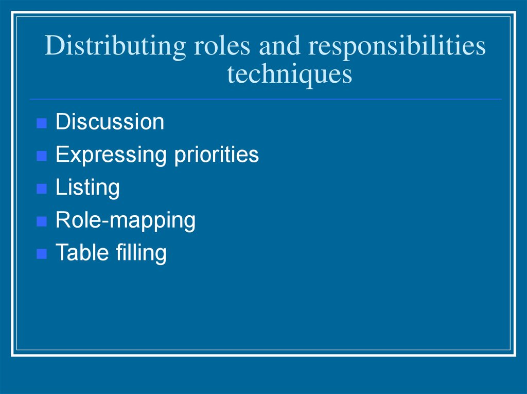 role responsibilities and boundaries of own Best answer: you could make a fool of yourself if you go beyond those boundaries besides your contract (should) stipulate(s) your responsibilities besides your contract (should) stipulate(s) your responsibilities.