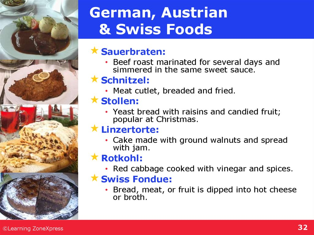 German, Austrian & Swiss Foods