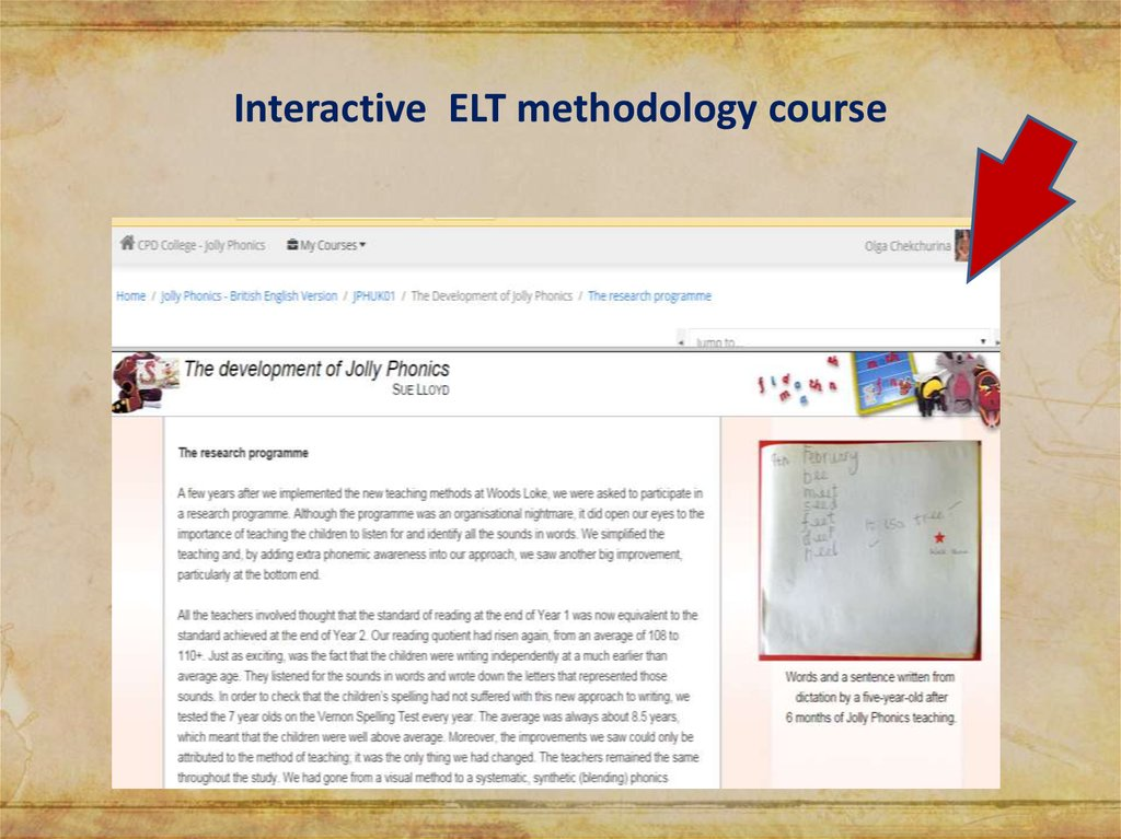 Interactive ELT methodology course
