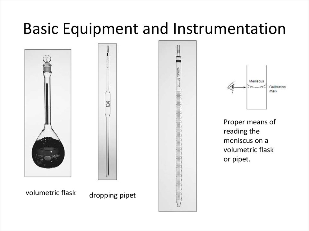 Basic Equipment and Instrumentation