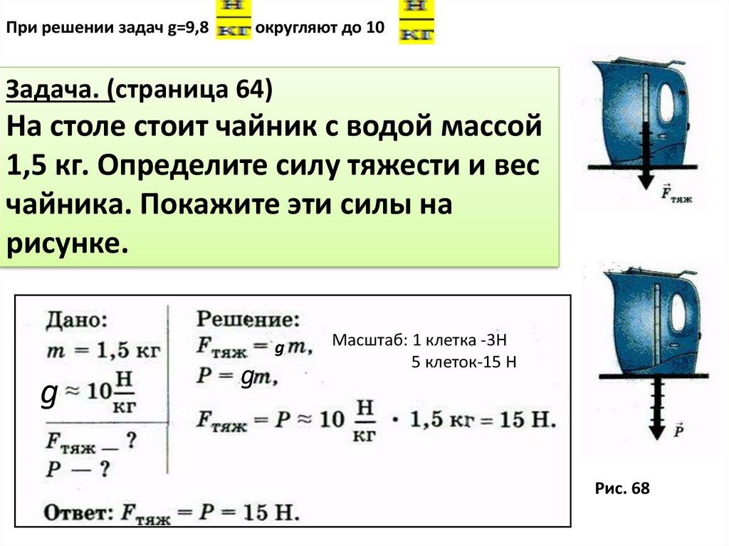 Задачи на нахождение силы тяжести с решением решить задачу виленкин 5 класса
