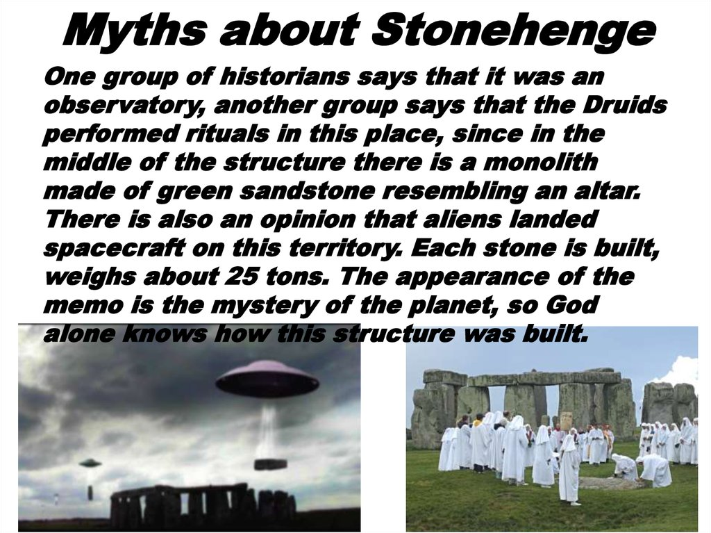 Myths about Stonehenge