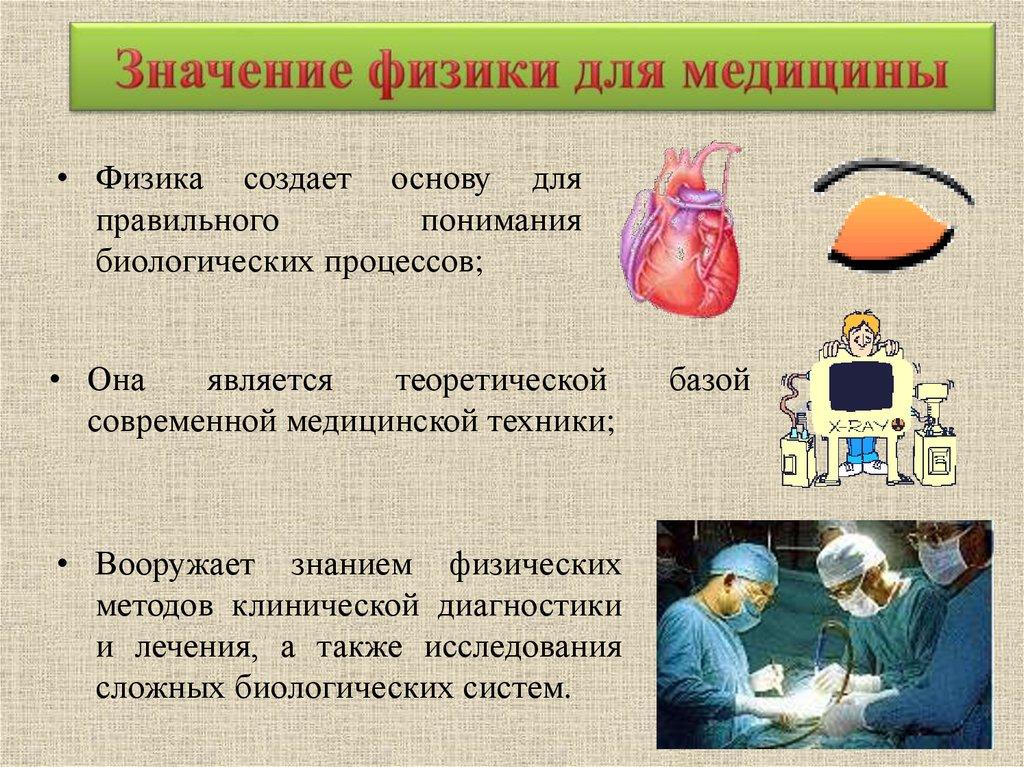 Реферат значение физики в медицине 5430
