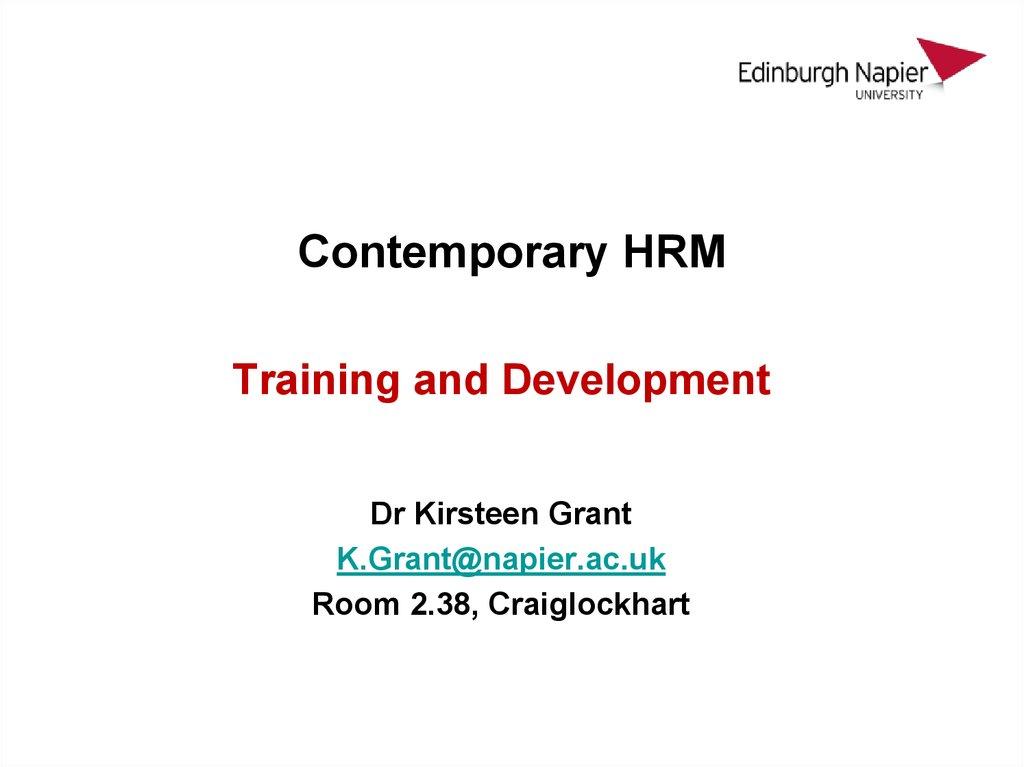 Hrm training and development