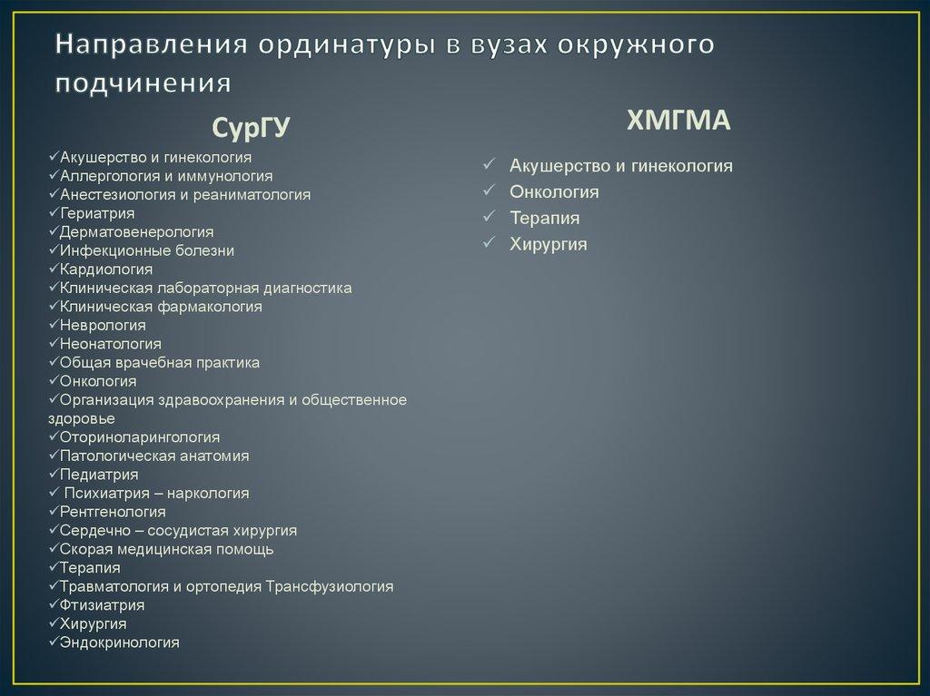 ординатура психиатрия наркология