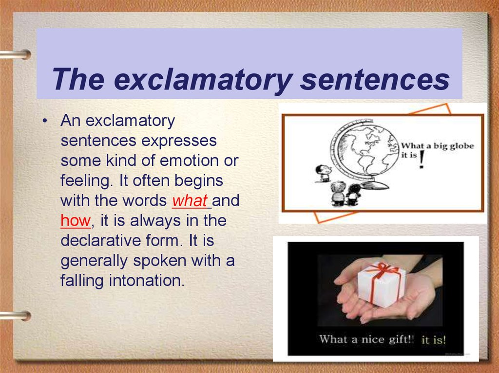 The exclamatory sentences