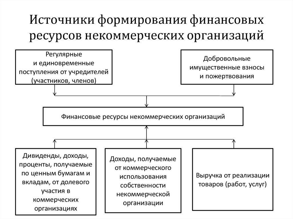 направление использования финансовых ресурсов некоммерческих организаций