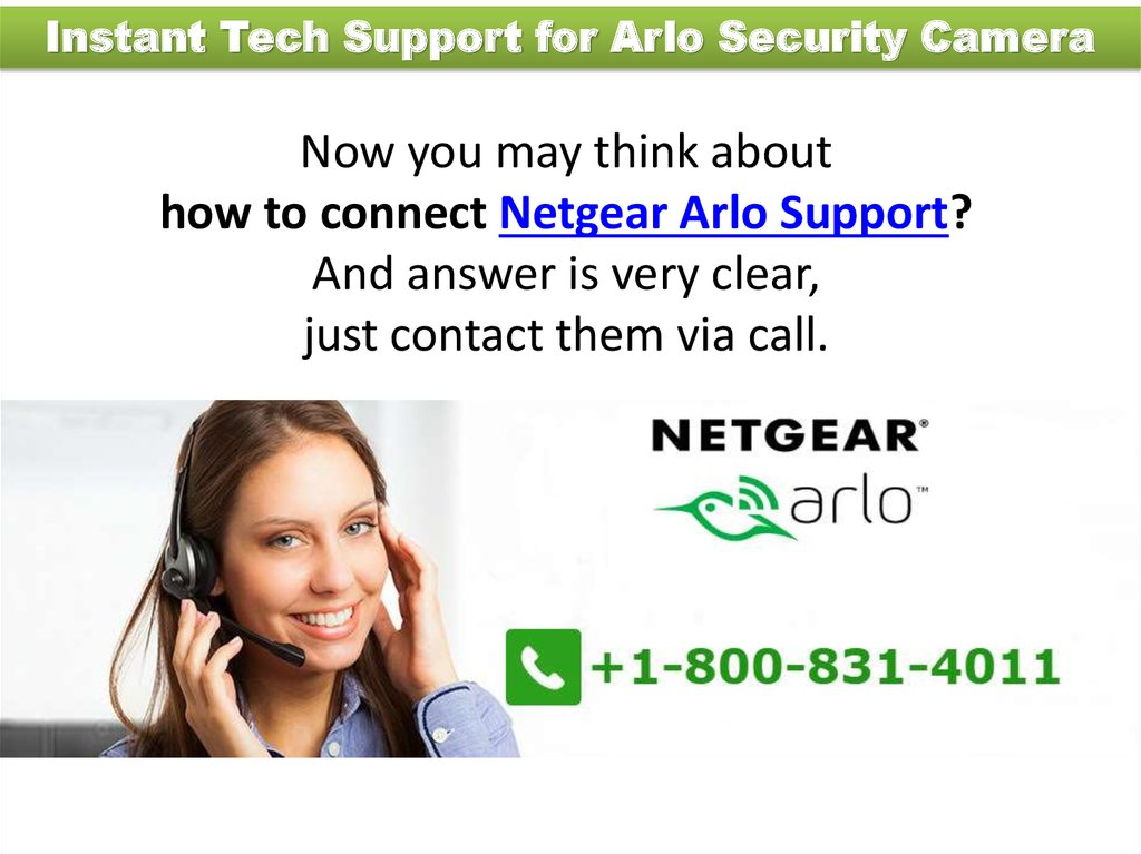 Netgear Arlo Support - online presentation