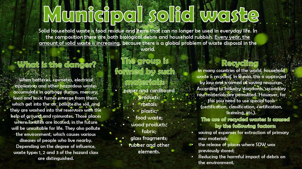 Municipal solid waste
