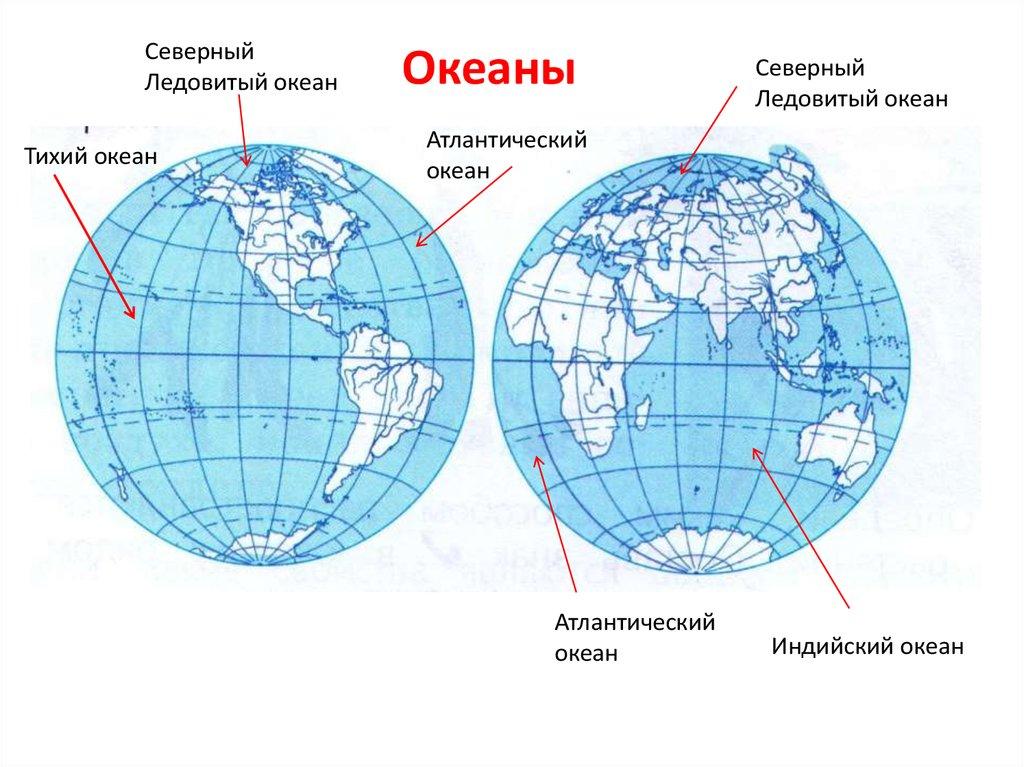 картинки материков и океанов на полушариях стороны моря мерсин