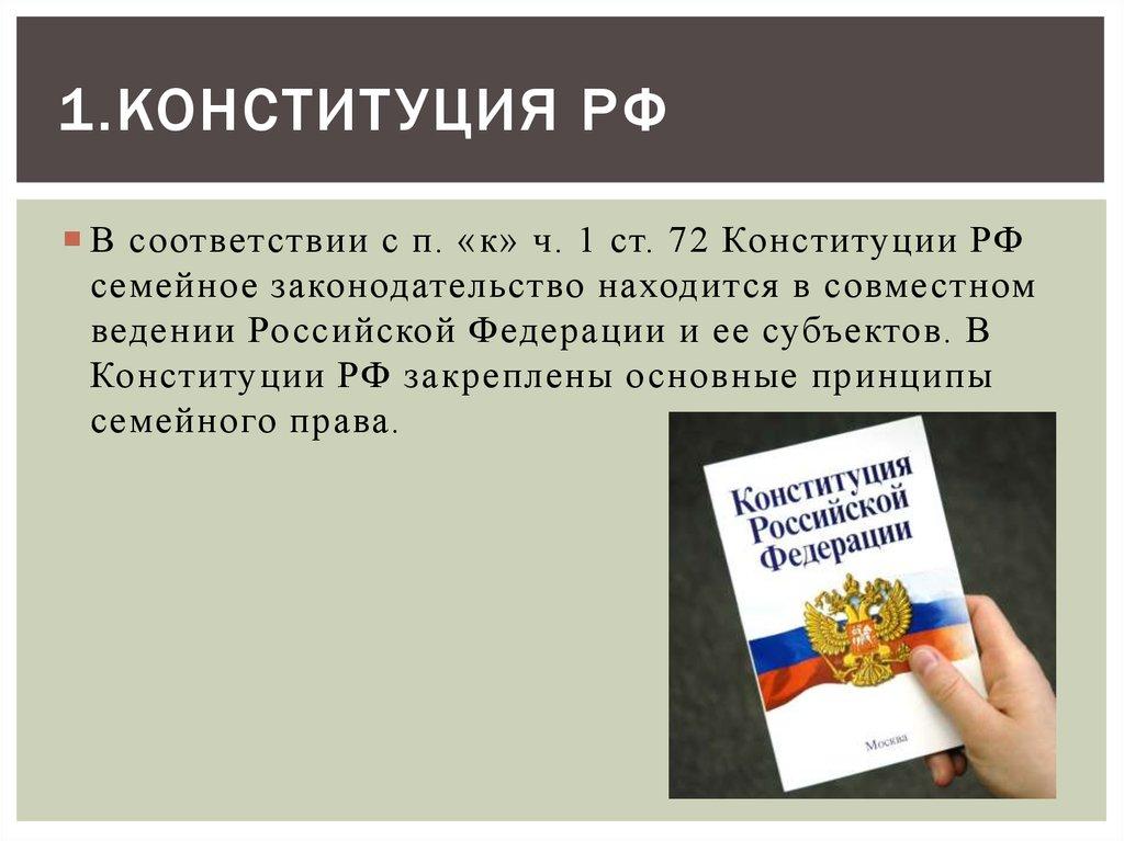 конституция рф семейное право