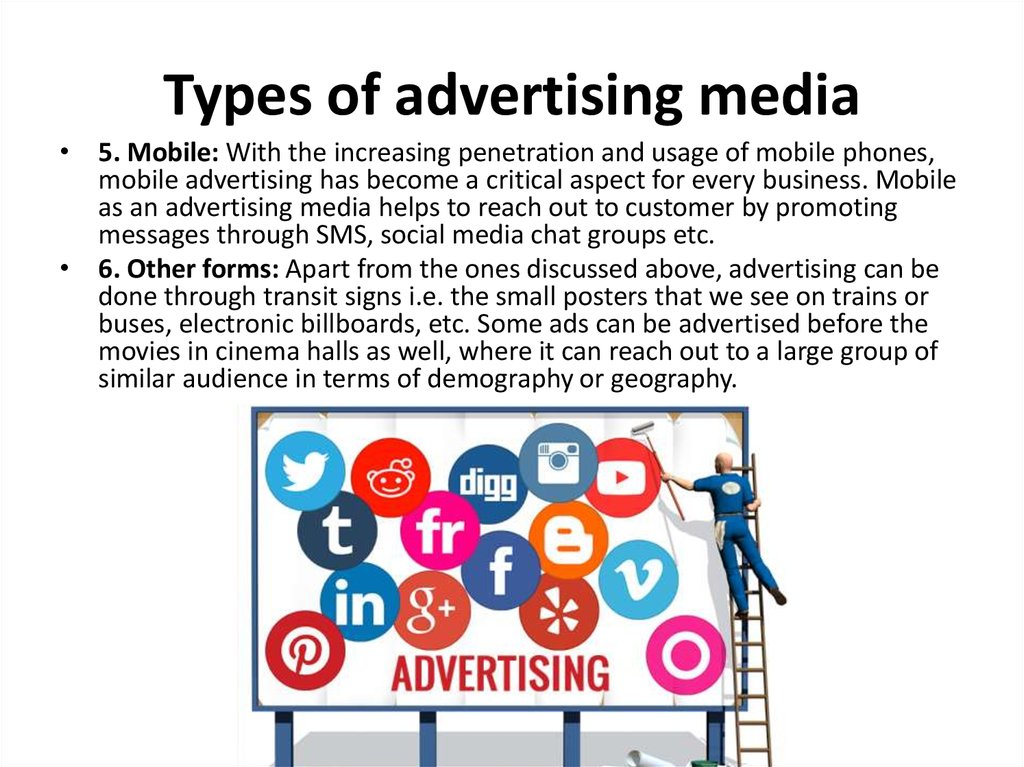 Types of advertising media