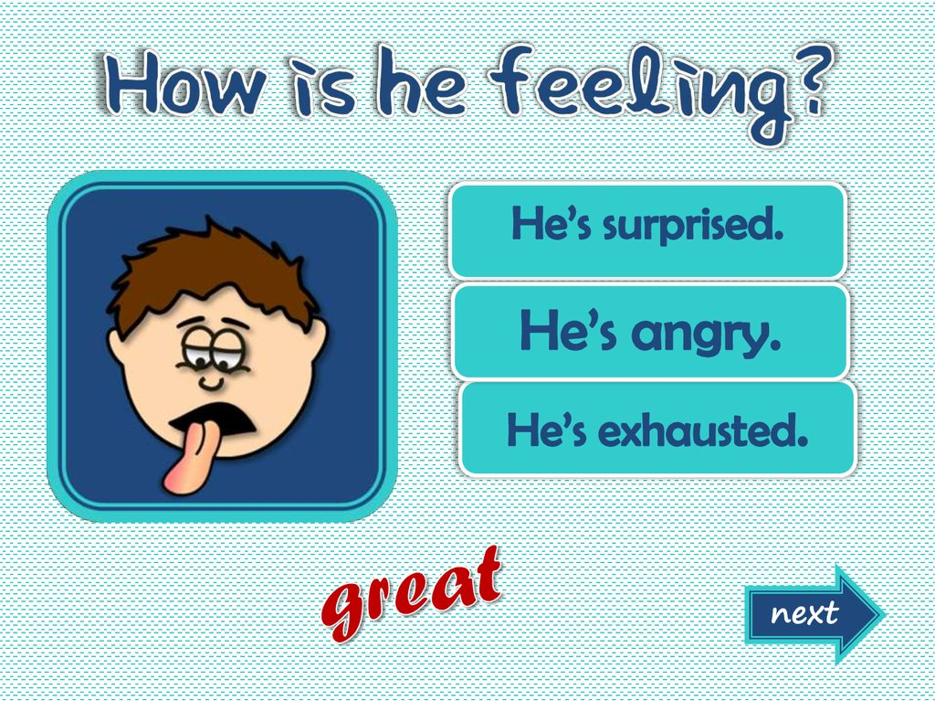 emotions and feelings This is a fully animated powerpoint presentation, with audio, for teaching or revising feelings and emotions related vocabulary there is a simple vocabulary lesson followed by a multiple choice activity.