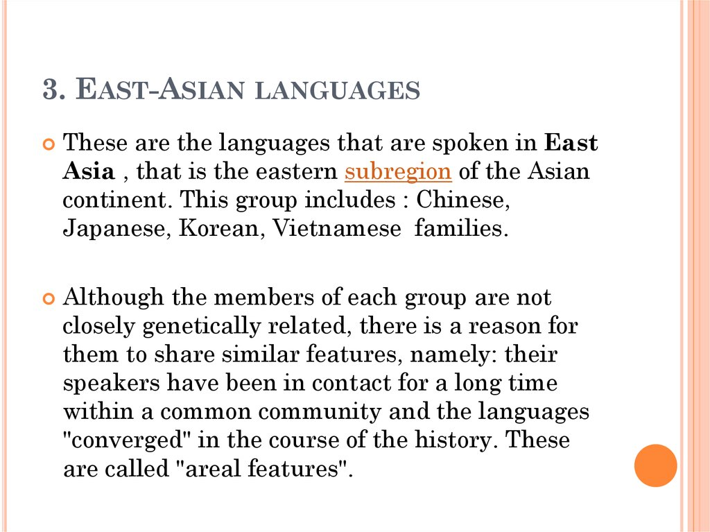 3. East-Asian languages