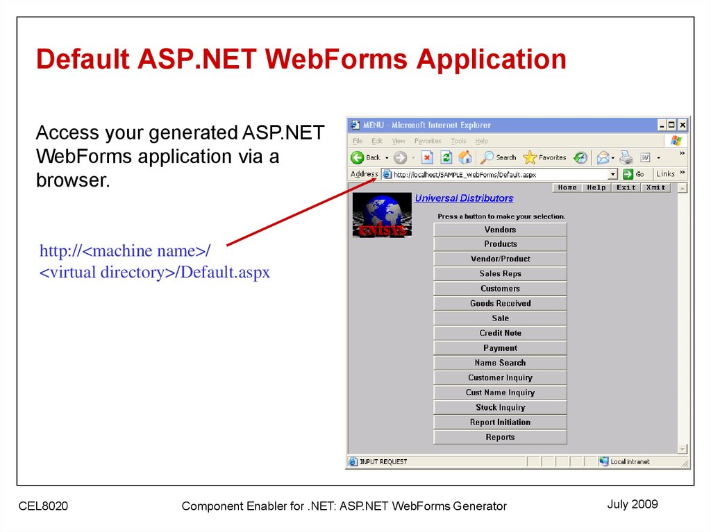 asp net web forms Look at the page, here i add ng-controller and ng-app and ng-repeatif you have little idea about angularjs, you must understand the code now just run the application and you will get following output.