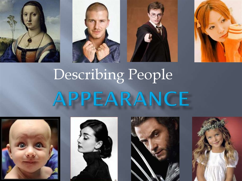 Appearance Describing People Online Presentation