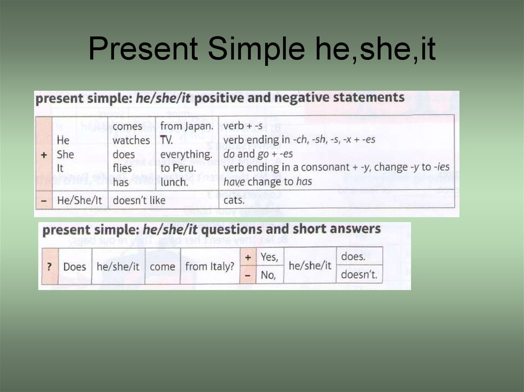 Present Simple he,she,it