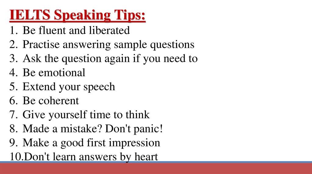 Ielts Speaking test - online presentation