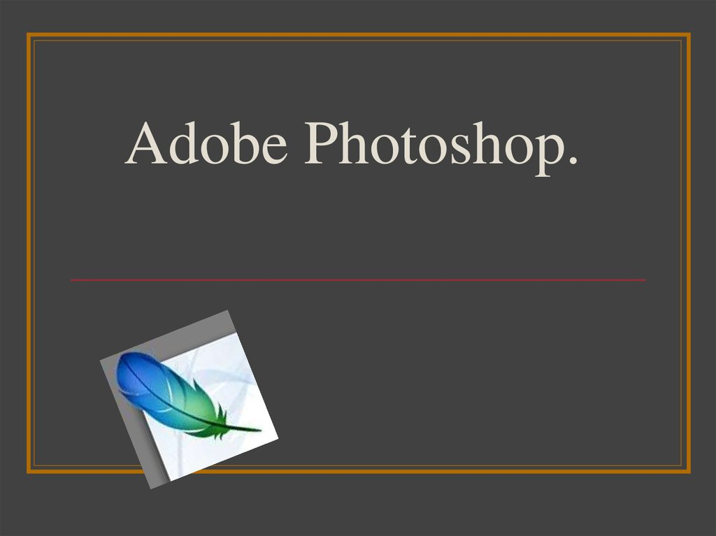 Adobe Photoshop.