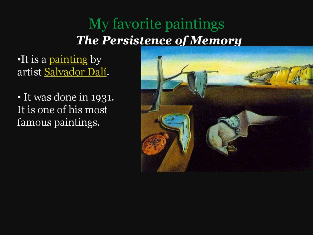My favorite paintings