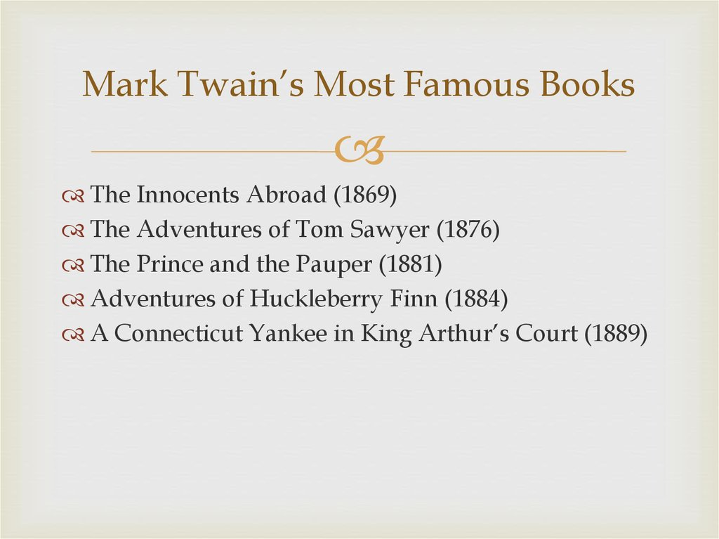 Mark Twain's Most Famous Books