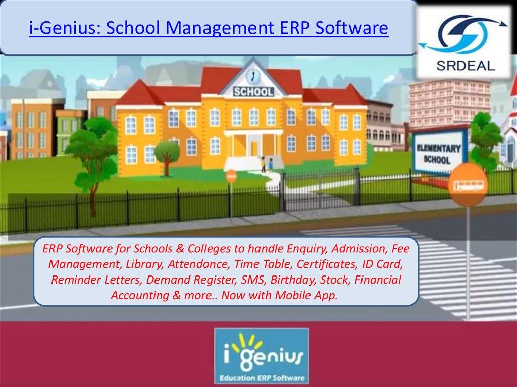 i-Genius: School Management ERP Software - online presentation