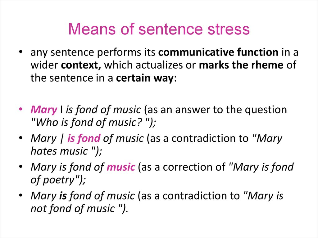 Means of sentence stress