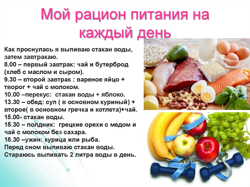 Здоровая диета на день