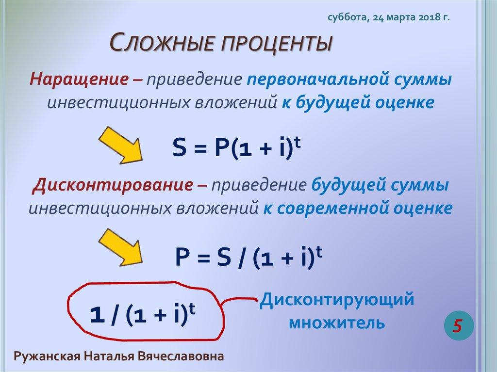 картинки сложные проценты понятие и формулы рабочем столе увидите