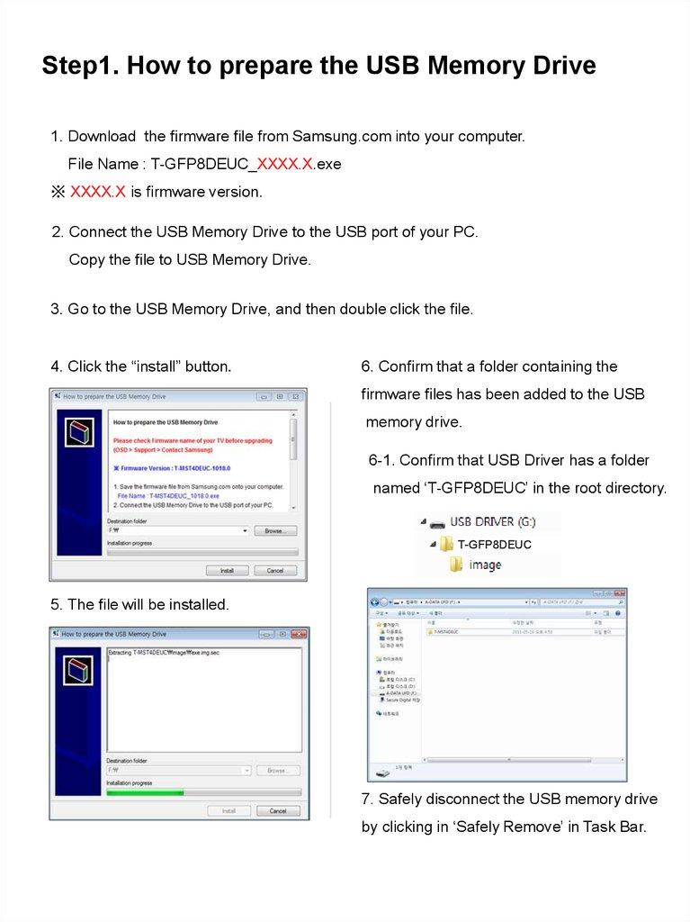 Samsung TV Monitor F/W Upgrade Guide - online presentation