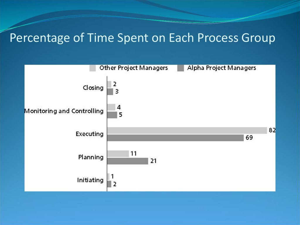 Percentage of Time Spent on Each Process Group