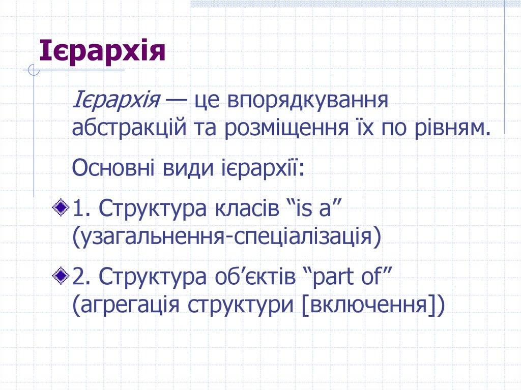 9d8eb9d093658b Об'єктно-орієнтоване програмування - презентация онлайн