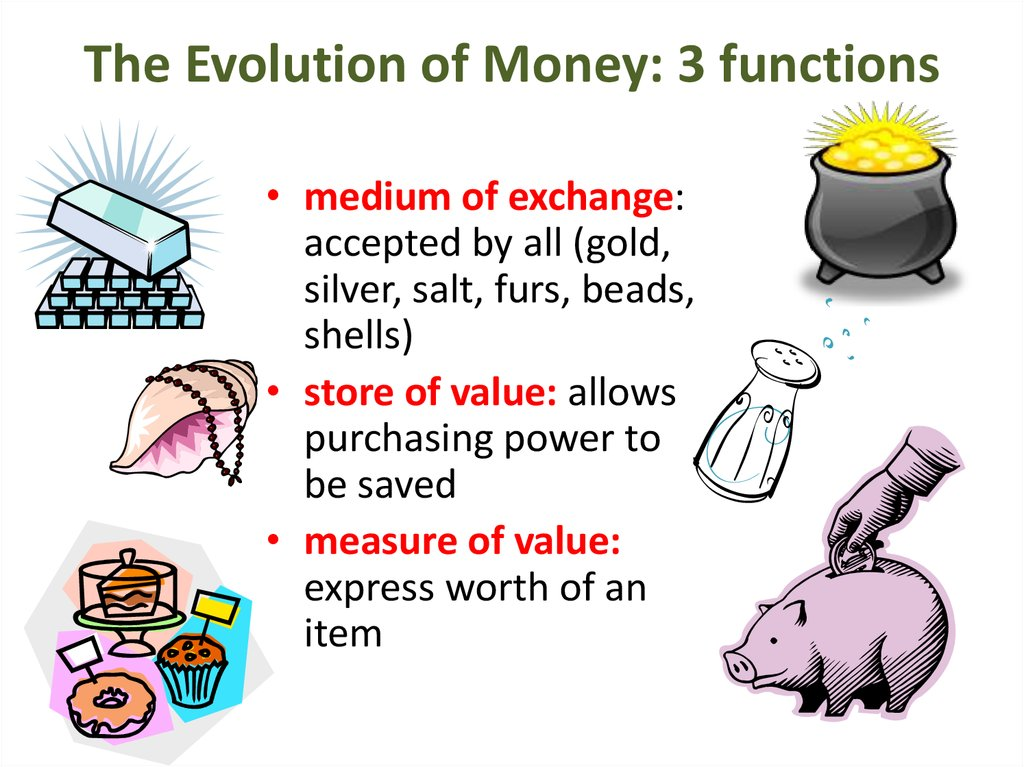 what are the 3 functions of money
