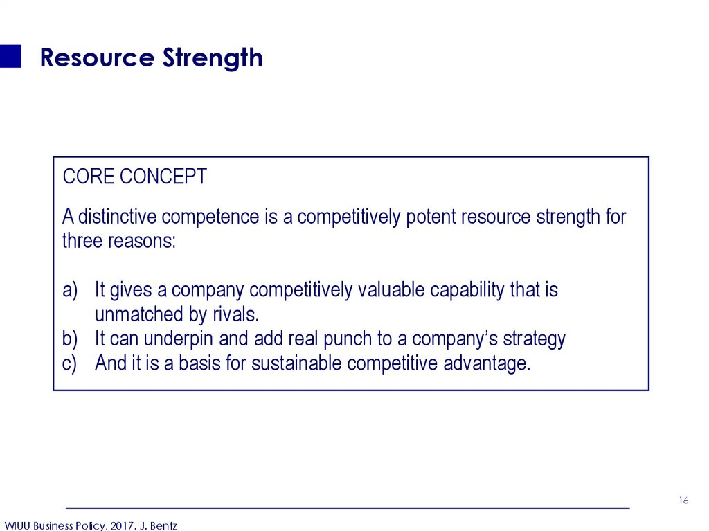 Resource Strength