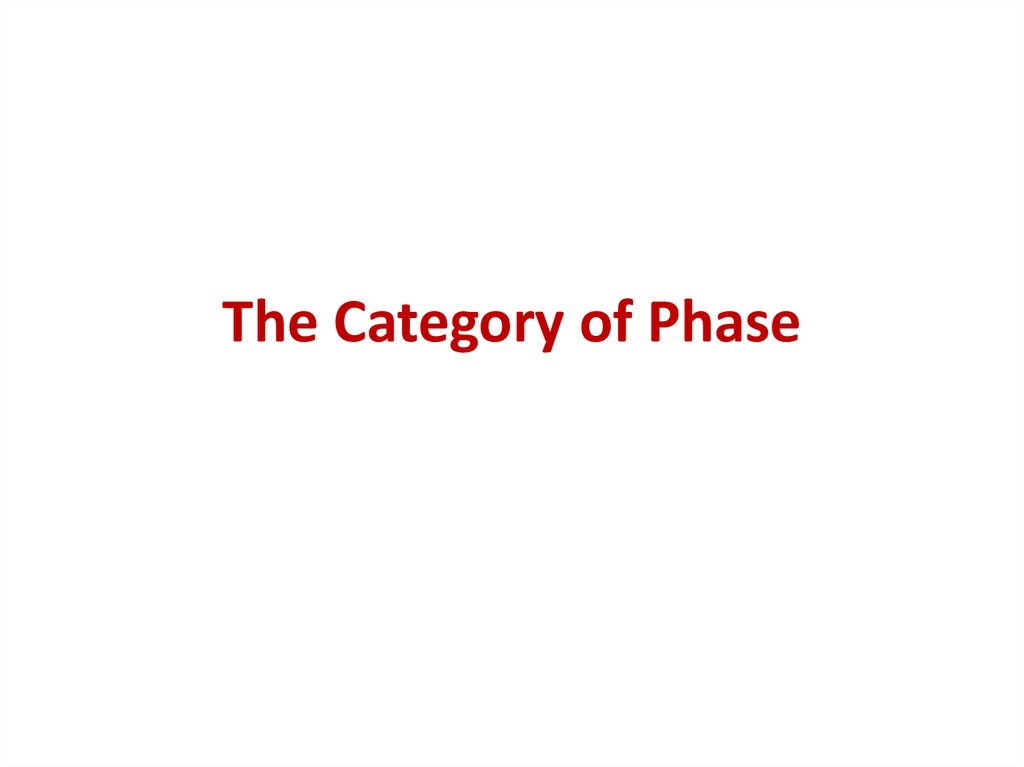 The Category of Phase