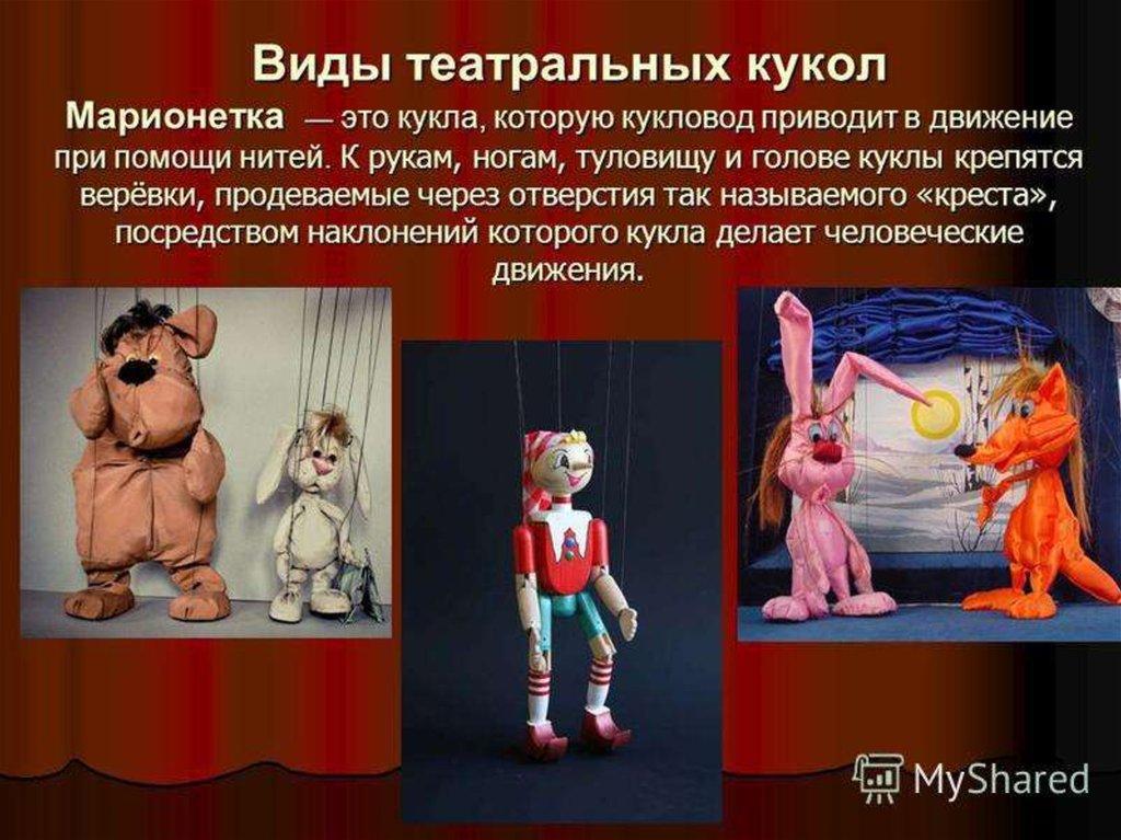 виды кукол в кукольном театре картинки